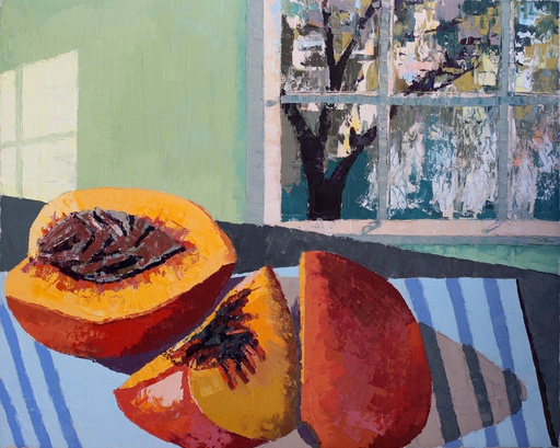 Peach and Spanish Moss Study